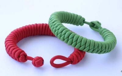 "How to Make a ""Fat"" Half Hitch Quick Deploy 1 Strand Knot and Loop Paracord Survival Bracelet"